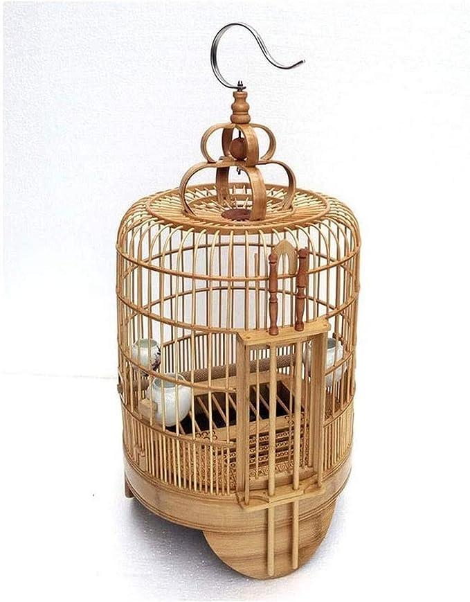 AXAA Jaula para pájaros Zorzal Jaula para pájaros Puerta de Seguridad Doble Zorzal Jaula para pájaros de bambú Jaula para pájaros Myna Jaula Grande para pájaros de bambú Jaula para Loros Jaula pa