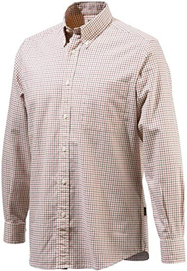 Beretta - Camisa Casual - para Hombre Beige and Red Check ...