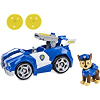 Paw Patrol, Chase's Deluxe Movie Transforming Toy Car with Collectible Action Figure, Kids Toys for Ages 3 and up