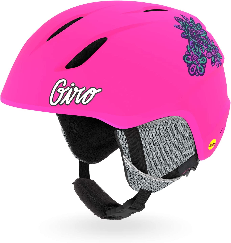 Matte Bright pink Giro Snow Unisex Jugend Launch Junior MIPS Skihelm S