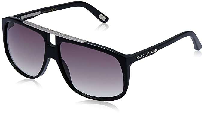 b06590ba36e63 Marc Jacobs Aviator Sunglasses (Black) (MJ-252 S-807LF)  Amazon.in ...