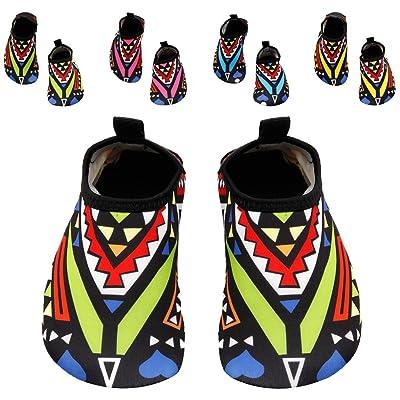 Santimon Kids Boys Girls Water Shoes Aqua Socks for Beach Pool Surfing Yoga Swim Walking Barefoot Aquatic Shoes