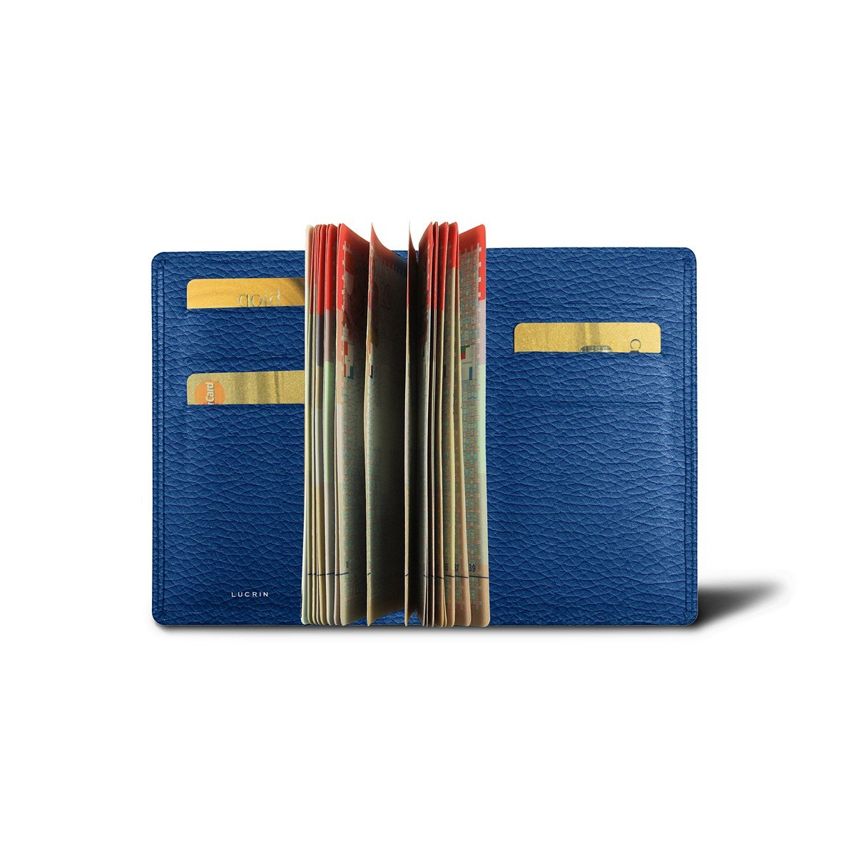 Lucrin - Luxury Passport Holder - Royal Blue - Granulated Leather