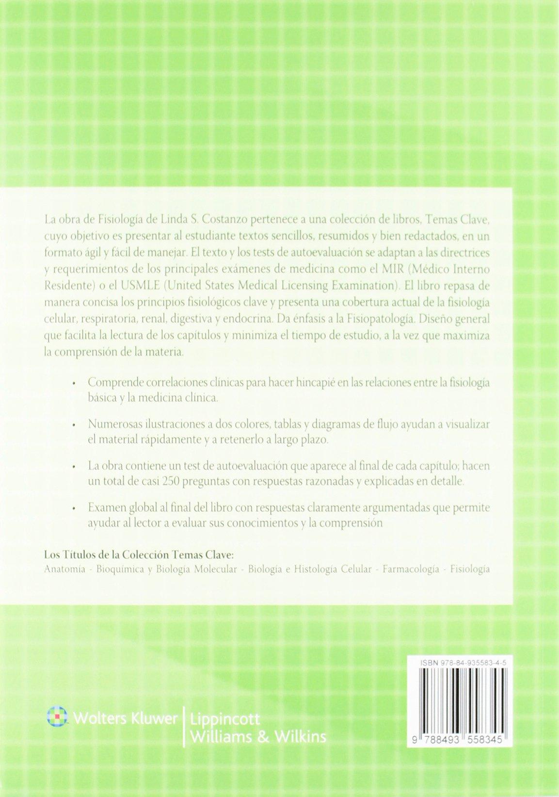 Fisiología (Temas clave): Amazon.es: Linda S. Costanzo, Beatriz ...
