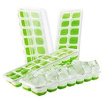 LoveisCool Eiswürfelform, DIY Silikon-Eiswürfelform, LFGB Zertifiziert, Umwelt und Gesundheit Kunststoff, 14-fach Eiswürfel, 4er Pack, Grün
