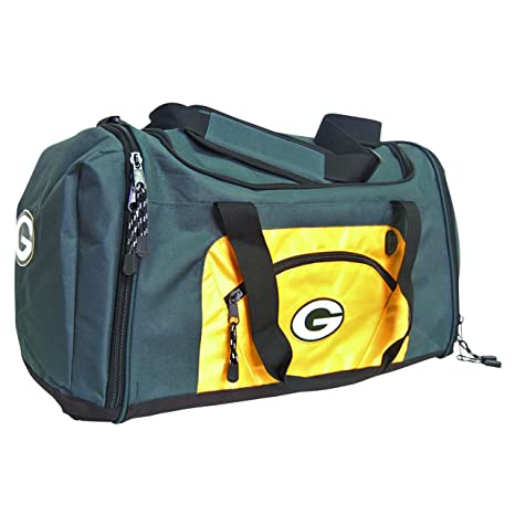 88a19775178f Image Unavailable. Image not available for. Color  NFL Green Bay Packers  Roadblock Duffle ...