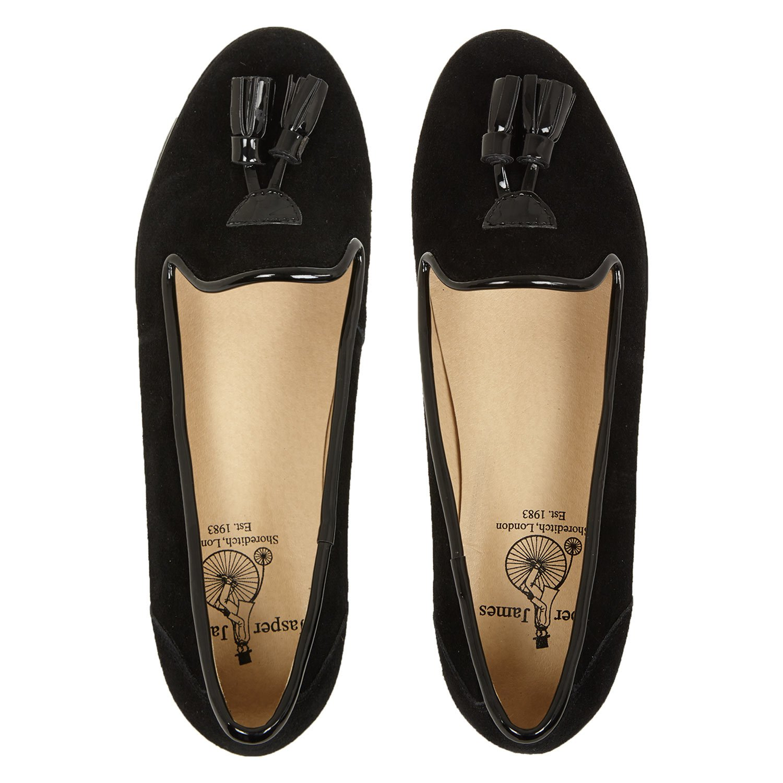 James para Mujer Jasper Negro Mocasines de Ante Traje de Neopreno para Mujer, Color Negro, Talla 40: Amazon.es: Zapatos y complementos