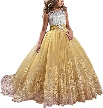 Amazon.com: Princess Lilac Long Girls Pageant Dresses Kids