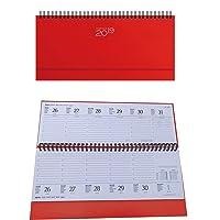 takestop® Planning da Tavolo Agenda 2019 Rosso SETTIMANALE Spirale DIARIO 30x15 CM DIARIO Blocco Notes Copertina Rigida