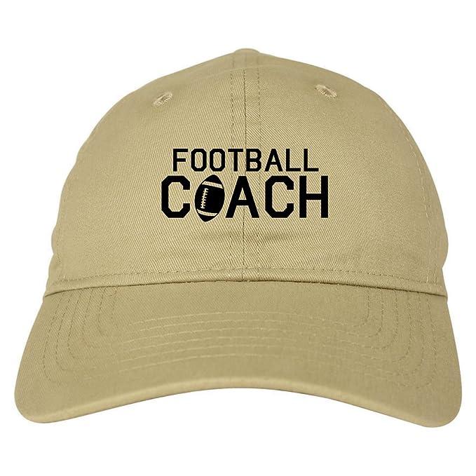 Amazon.com  Football Coach Sports Mens Dad Hat Baseball Cap Beige ... 2bff9504af8