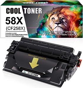 Cool Toner Compatible Toner Cartridge Replacement for HP 58X CF258X 58X CF258X HP Laserjet MFP M428fdw M428fdn Pro M404n M404dn M404dw M428dw M404 M428 M304 Printer Toner Ink (Black, 1-Pack)