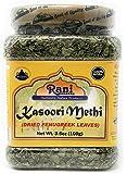 Rani Fenugreek Leaves Dried, All Natural (Kasoori Methi) 100g (3.5oz) ~ PET Jar | Gluten Free Ingredients | Non-GMO…