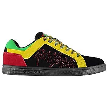 Zapatillas de Patinaje para Hombre, Color Negro/Verde/Amarillo, Zapatillas Deportivas Originales