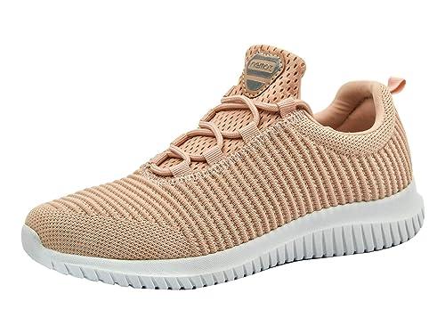 4d27b6182fb5c Riemot Zapatillas Deportivas de Hombre Mujer Zapatos para Correr Deporte  Tenis Running Fitness Gimnasio Súper Ligero Bambas Sneakers Calzado Casual   ...