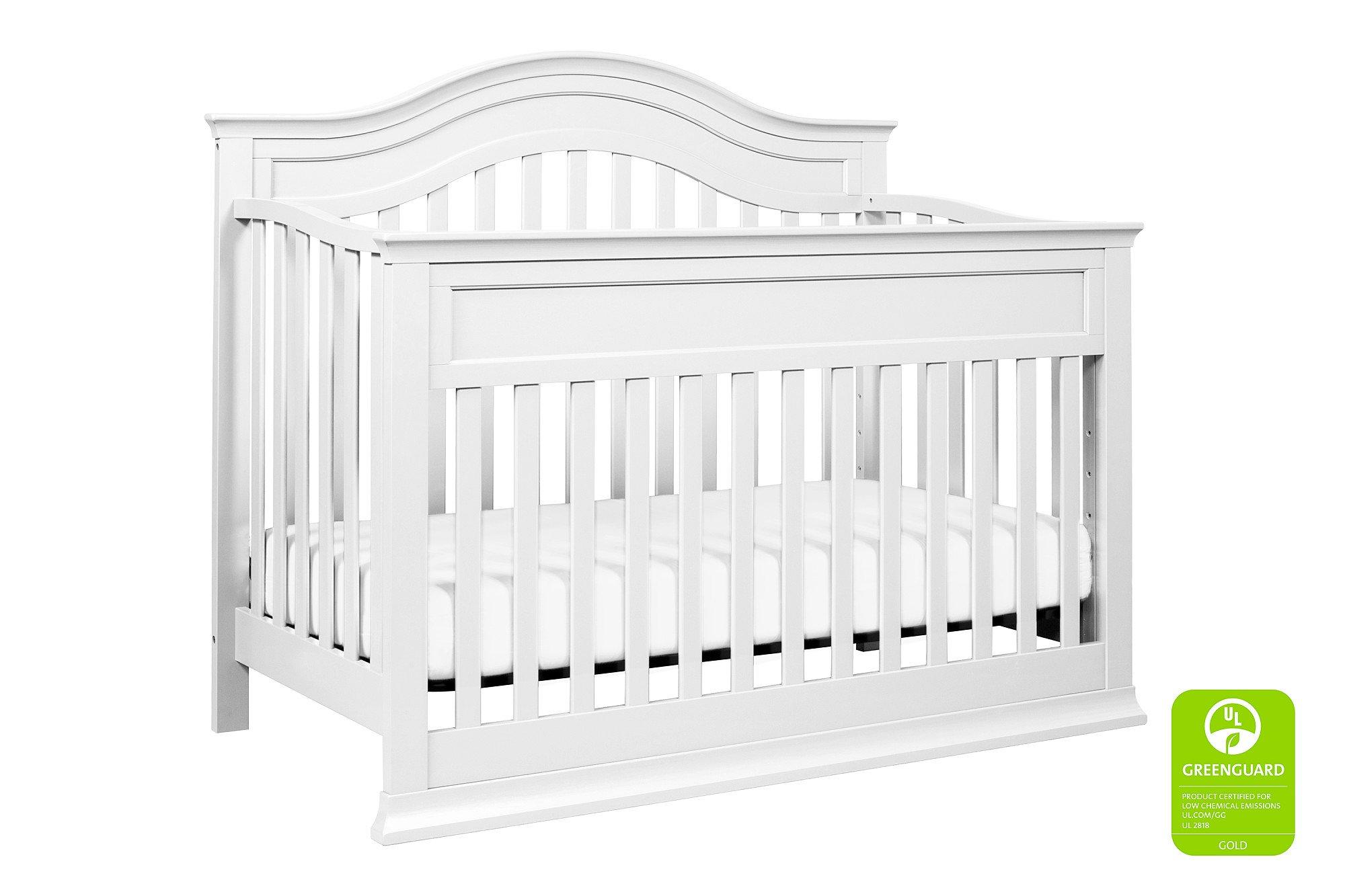 Full Size Conversion Kit Bed Rails for Davinci Brooke 4-in-1 Crib - White
