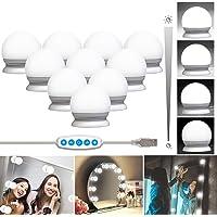 QYH Make-uplamp, Hollywood-stijl, 10 lampen, dimbaar, make-uplamp, usb-kabel, make-uplamp voor make-uptafel, cosmetica, spiegel verlichting