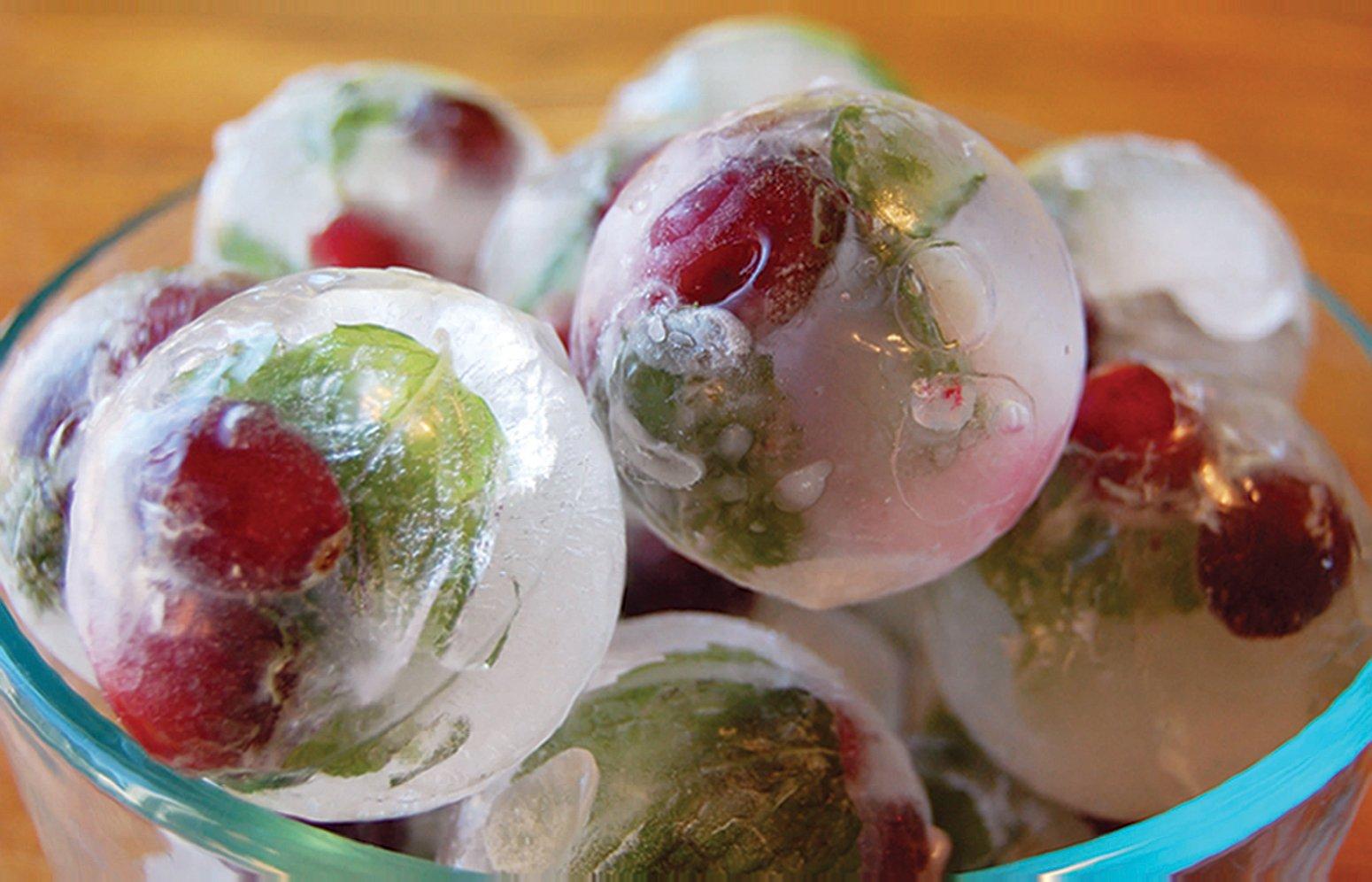 Froz Ice Ball Maker–Fantaisie en silicone de qualité alimentaire Moule à Glace Plateau avec 4x 4.5cm Boule Capacité