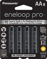Panasonic BK-3HCCA8BA Eneloop Pro AA Rechargeable Batteries