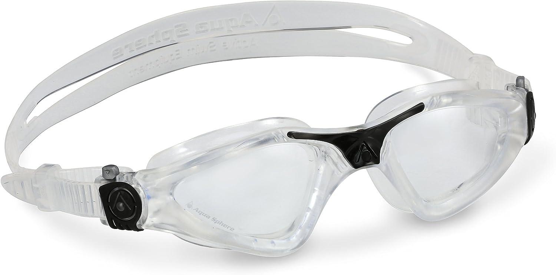Aqua Sphere Vista White Red Swim Goggles Clear Lens Unisex