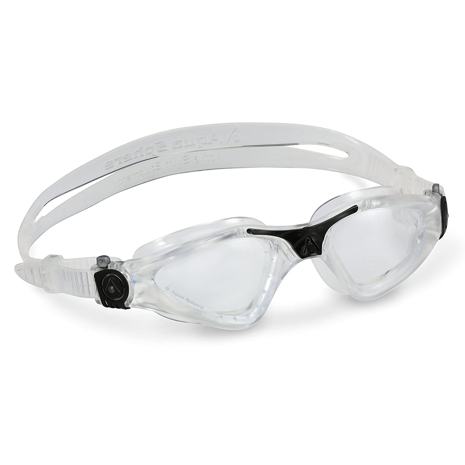 25f56ae80368 Amazon.com  Aqua Sphere Kayenne Swim Goggles with Clear Lens (Clear Black)   Sports   Outdoors