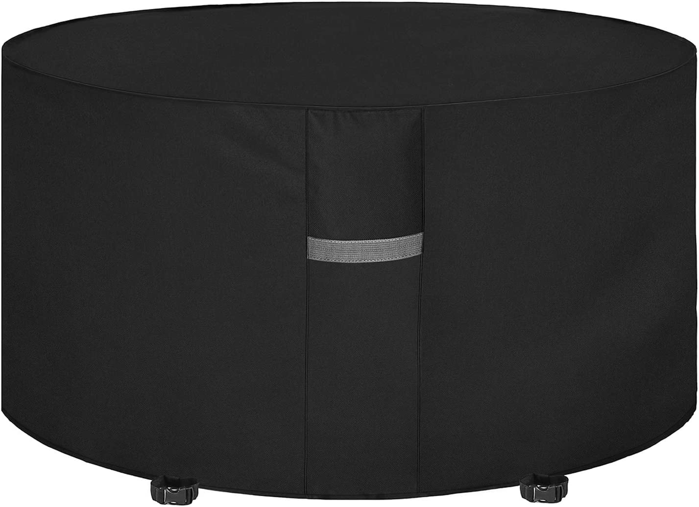 Dokon Garden Table Cover with Air Vent, Waterproof, Windproof, Anti-UV,  Heavy Duty Rip Proof 10D Oxford Fabric Patio Set Cover, Garden Furniture