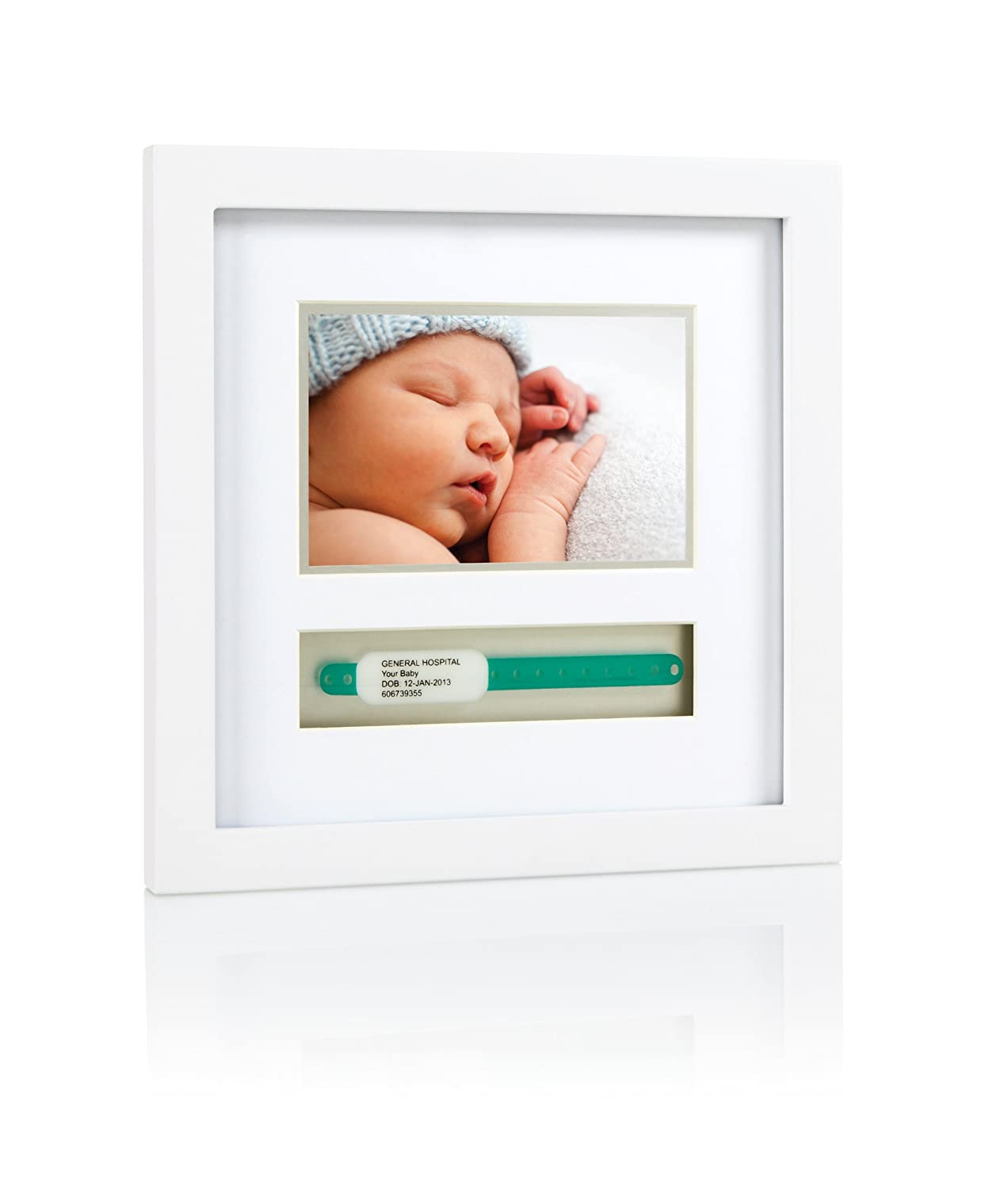 Pearhead Baby Hospital ID Bracelet and Photo Keepsake Frame, White Pearhead Inc. P63012