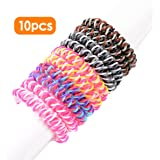 Amazon Price History for:Spiral Hair Ties No Crease Elastic Ponytail Holders Phone Cord Traceless Hair Ring Suitable for All Hair Types 5 Colors,2pcs/color, Pack of 10