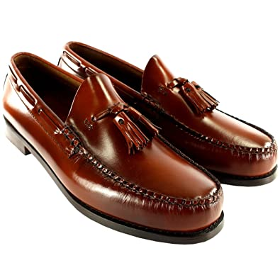 Mens G.H. Bass Larkin Slip On Tassel Smart Penny Loafer Leather Shoe   Amazon.co.uk  Shoes   Bags 254012bff