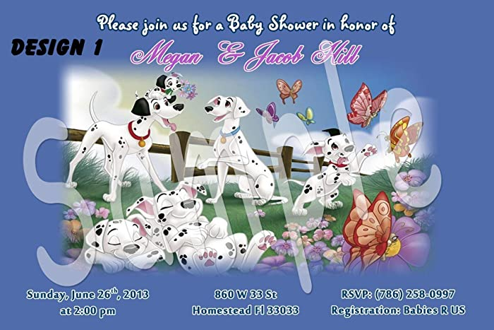 Amazon Com 101 Dalmatians Baby Shower Boy Footprints Personalized