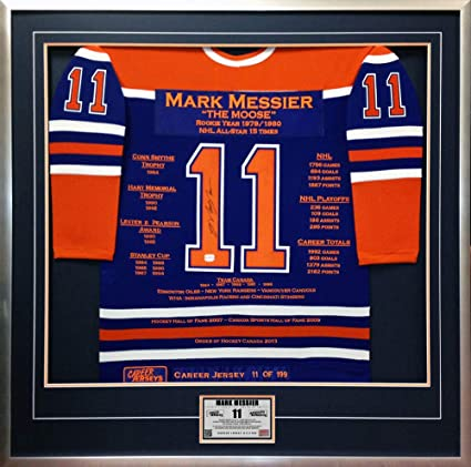 Mark Messier Career Jersey  11 of 199 - Autographed - Edmonton Oilers 4b67ed771