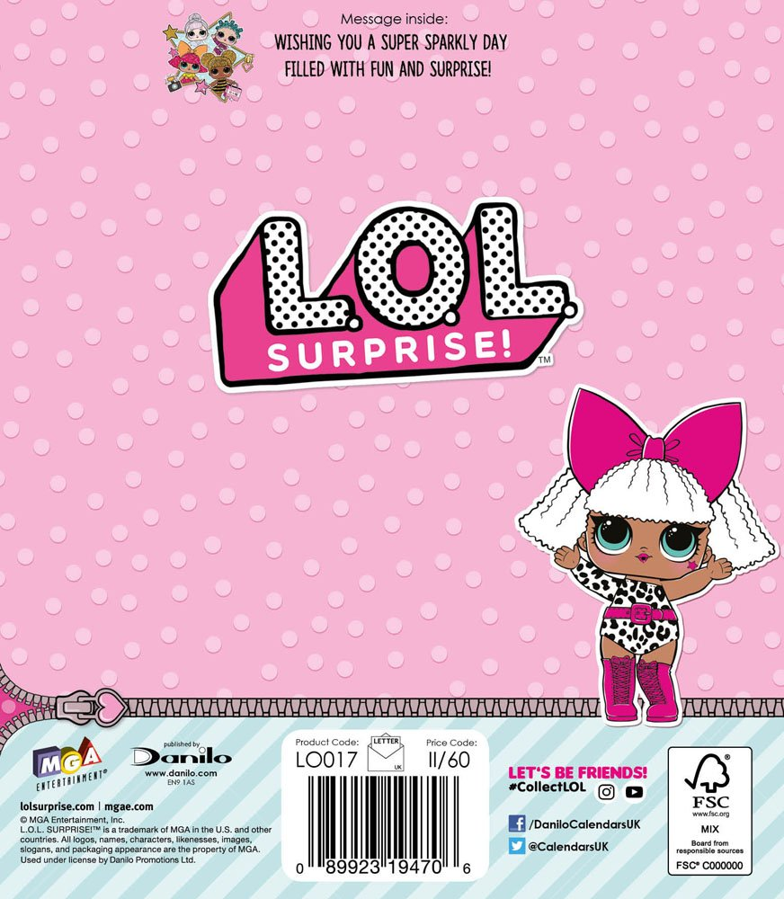 LOL Surprise LO017 - Tarjeta de cumpleaños