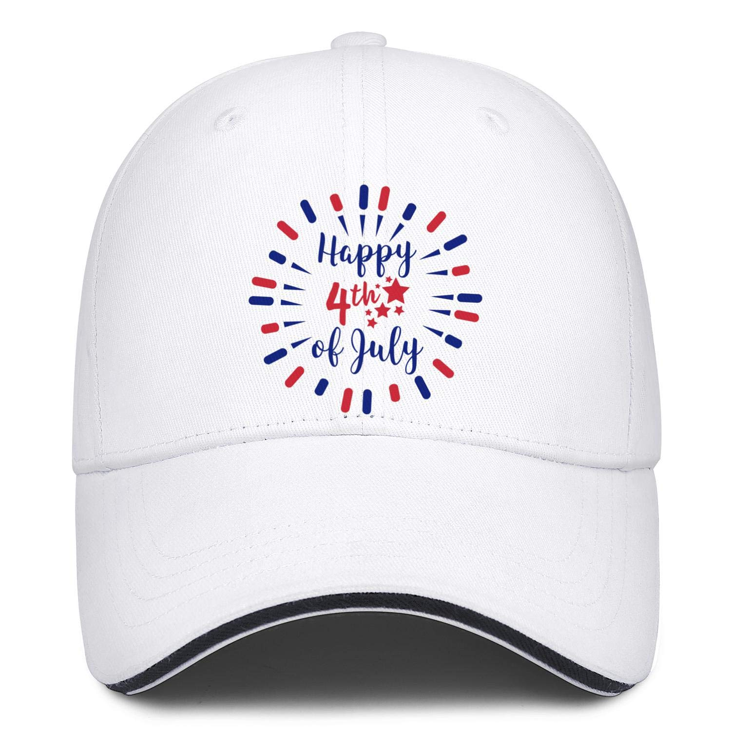 NNJA Happy 4th of July Celebration Vector Mens Flat Curved Low Profile Distressed Snapback Hat