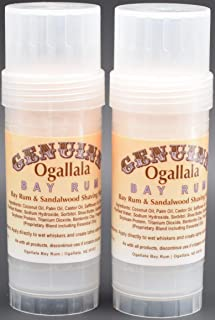 product image for Two (2) Genuine Ogallala Bay Rum Rum and Sandlewood Shaving Sticks. This is a Version of Our Popular Genuine Ogallala Bay Rum Shaving Soap in Shaving Stick Form.