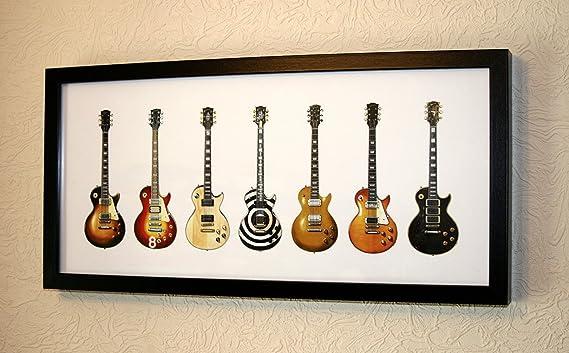 7 Famous Gibson Les Paul/'s Gibson Les Paul Guitar Panorama Print