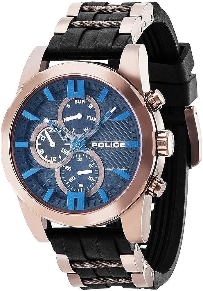 Police Reloj Multiesfera para Hombre de Cuarzo con Correa en Plástico PL14541JSBN.02P
