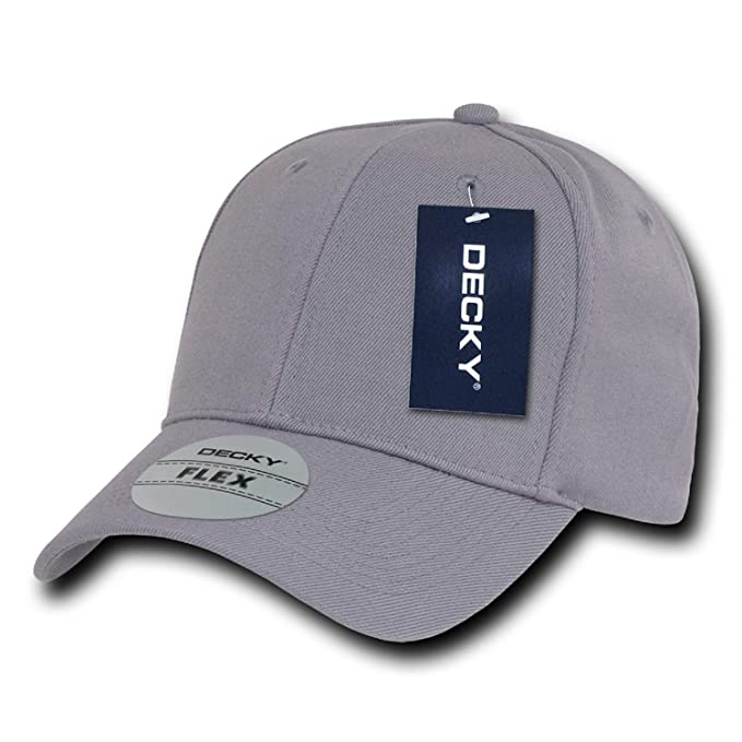 027164ef00c Gray Plain Solid Blank Flex Baseball Fit Fitted Ball Cap Hat - One ...