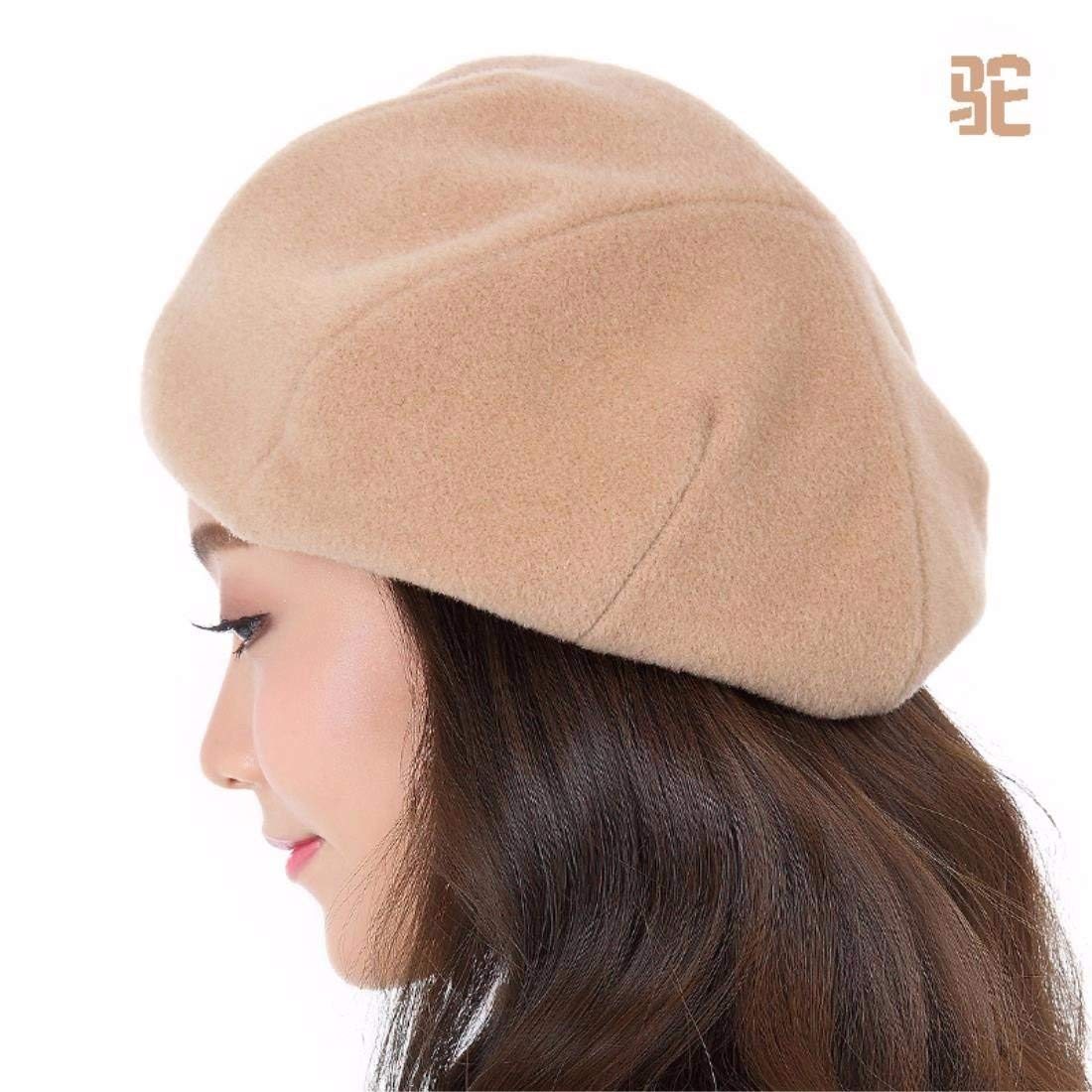 Thundertechs The Stylish Cap Winter The Tide Fall Winter hat Female New Bailey (Color : Brown, Size : L (58-60CM))