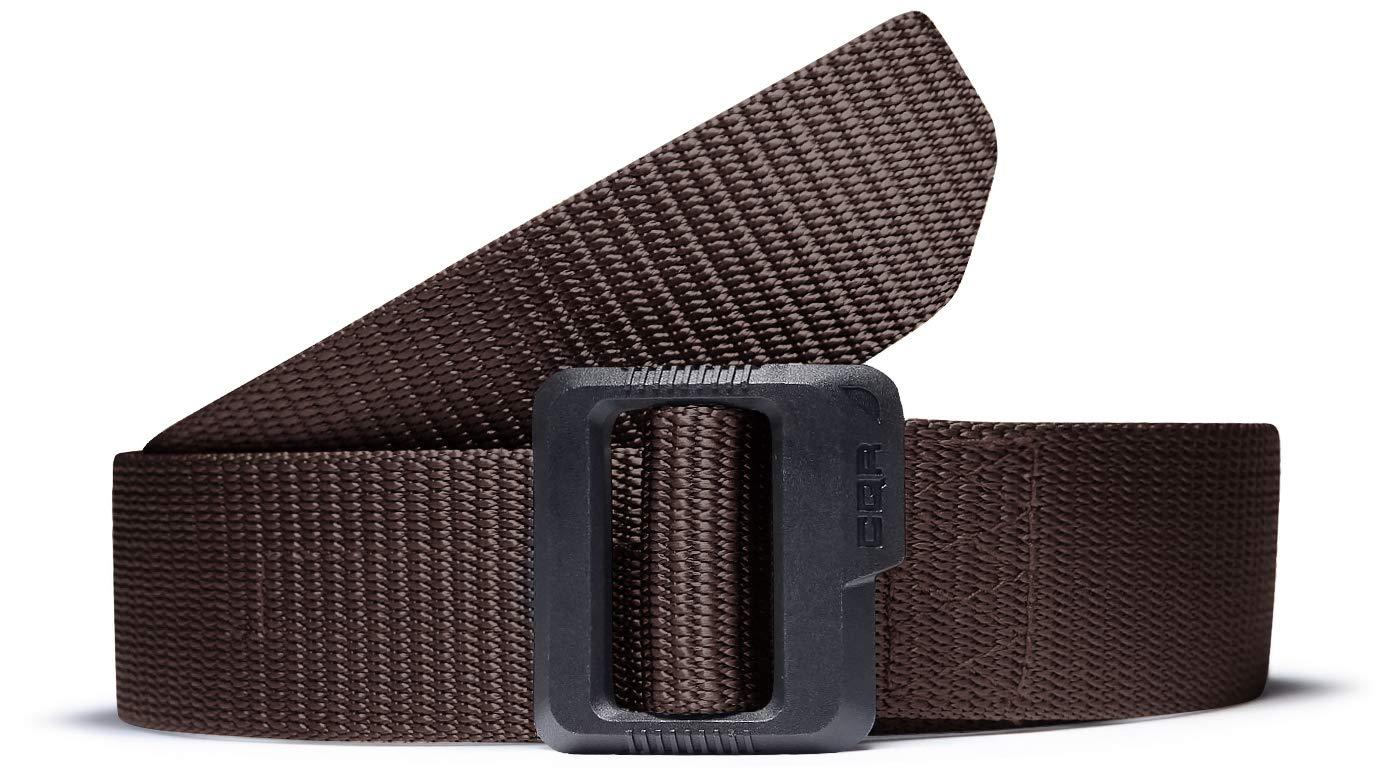 CQR CQ-MZT01-BRN_XL(w40-42) Tactical Belt 100% Full Refund Assurance Nylon Webbing EDC Duty 1.5'' Belt MZT01