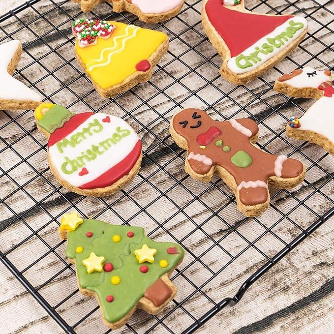 Biscotti Stampo per Biscotti in Acciaio Inossidabile,Decorazione della Torta a Tema Natalizio Stampo Gxhong Set Formine per Biscotti,15 formine per Biscotti per Natale 15 Pezzi