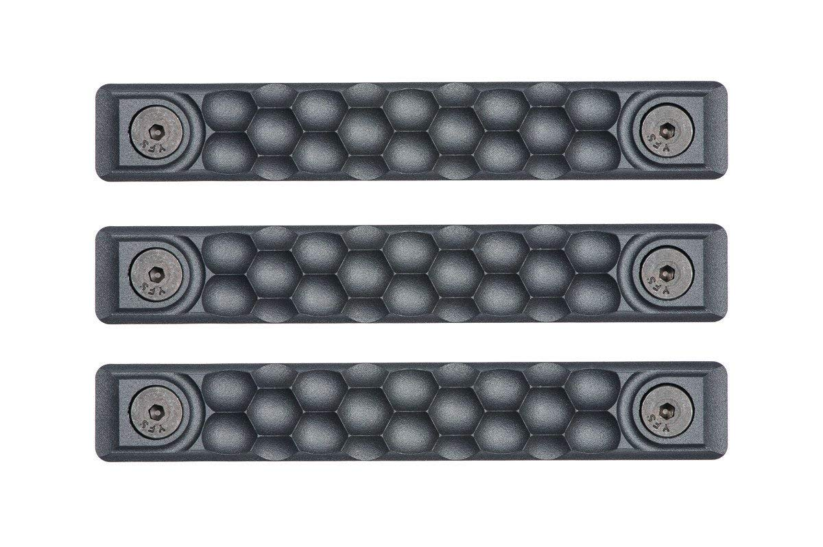 RailScales High Temp Polymer HTP Scales - Multiple Options (KeyMod 3 Pack, Honeycomb Sniper Grey)