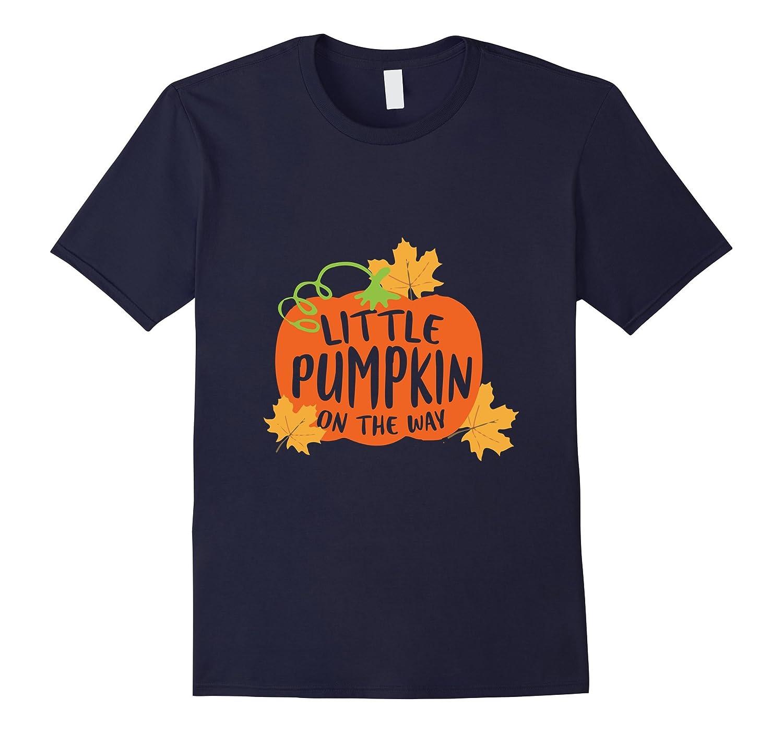 Little Pumpkin On The Way Pregnancy Maternity Halloween Tees-FL