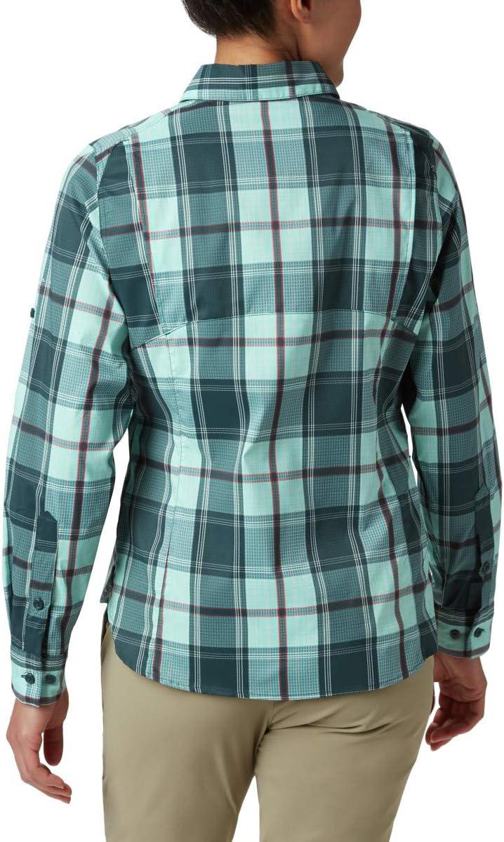 Columbia - Silver Ridge™ Lite Plaid Long Sleeve Shirt, Silver RidgeTM Lite Plaid LS Camicia Donna Scuri Seas Plaid
