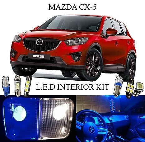 2015 Mazda CX-5 de profundidad azul LED Interior luces paquete + tocador + placa
