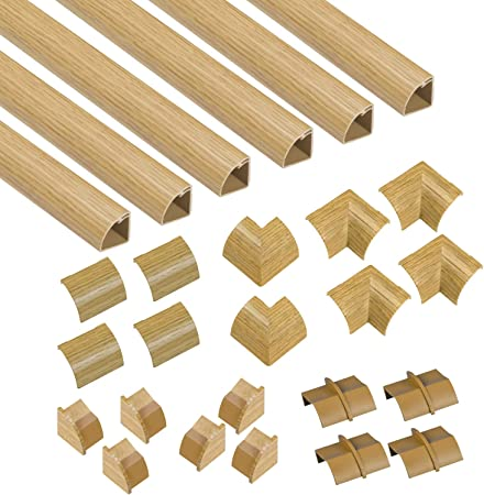 Popular Floor Trim Alternative CLOAP22QSF1 D-Line Quadrant Cable Trunking