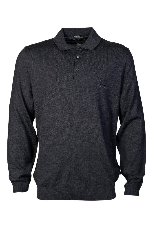 HUGO BOSS Mens Polo Knitwear Banet-E 50298478 Size XL Grey by Hugo Boss