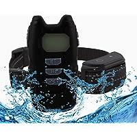 AOGVNA - Collar de entrenamiento para perros recargable con mando a distancia con 3 modos de entrenamiento, resistente…