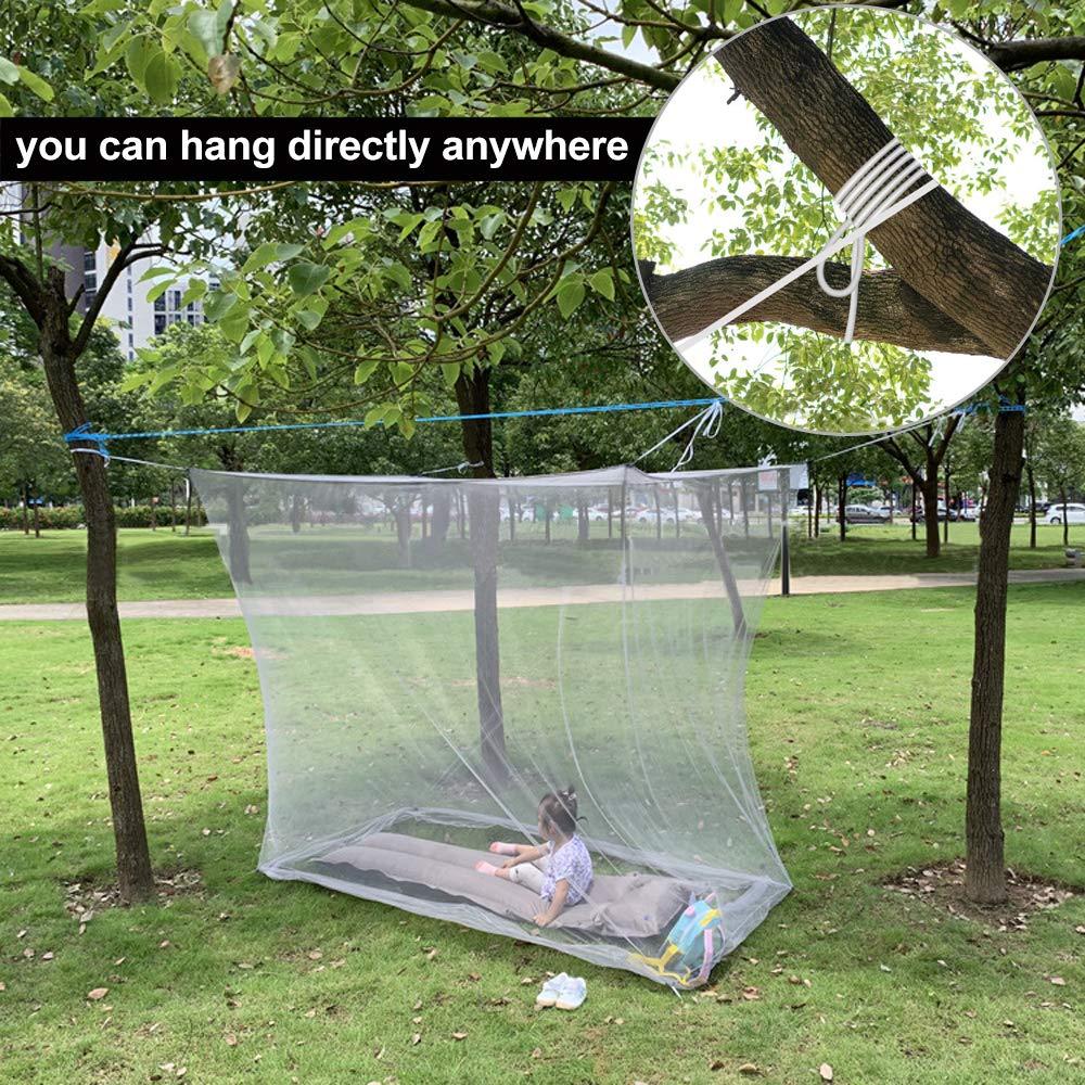 para Proteger Tu Familia y Tu de Indeseables Mosquitos y Otros Insectos 200 * 100 * 190cm BUZIFU Mosquitera para Cama Individual Cuadrada Malla Fina con Ganchos Cuerda Bolsa de Almacenamiento