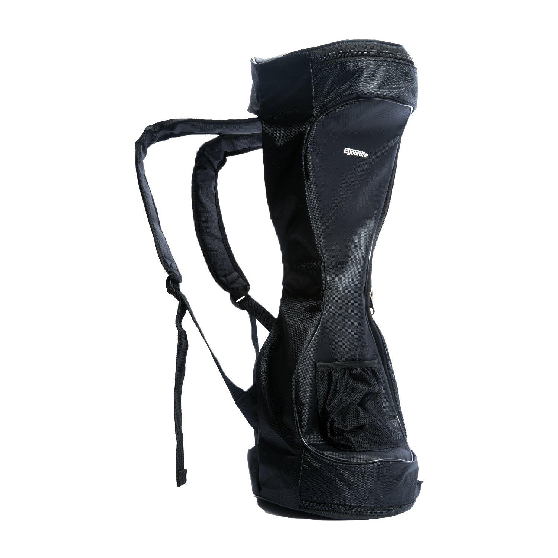 Eyourlife 6.5'' Waterproof Oxford Material Hoverboard Backpack Bag -Two Wheel Scooter Bag Portable Durable Scooter Handbag Storage Bag Black
