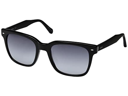 00ca925aae Image Unavailable. Image not available for. Color  Fossil Markham Rectangle Sunglasses  Black FOS2056S