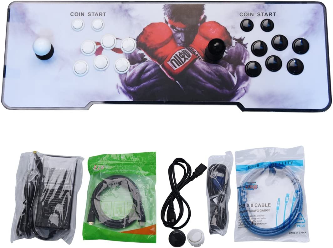 TAPDRA Máquina de vídeo clásica, 2 jugadores Pandora Box 5S Home Arcade Consola 1299 Juegos Todo en 1, Doble Stick